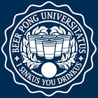 BEER PONG UNIVERSITY T-shirt college drinking beirut keg party CHOOSE SIZE S-XXL