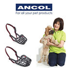 New Ancol Plastic Basket Dog Muzzle All Sizes Black