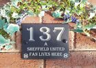 League 1  Football Slate House Number Gate Door Sign Plaque Teams As Of  2012