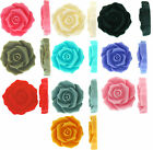 Fancy Rose resin flat back cabochon flowers 27mm 10 pieces