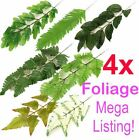 4x Artificial Leaves Foliage MEGA LISTING!! 11 TYPES!! For Flowers, Buttonholes!