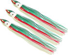 "5.5"" to 8.5"" Octopus Squid Replacement Skirt - Luminous Green & Red - 3 Pack"