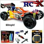 RC Car Nitro/Petrol Race Buggy Radio/Remote Controlled 1/10 RTR 4WD 2 Speed Fast