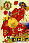 Almeria 1947 Andalusia Fashion Girl Red Dress Spain Vintage Poster Repo FREE SH