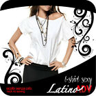 MAGLIA SEXY T-SHIRT SPALLA SCOPERTA DONNA WOMAN S M L SHIRT OFF THE SHOULDER