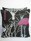 Designers Guild Central Park Retro Graphic Vintage Fabric Cushion Cover - Black