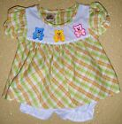 NEW Dress Baby White Green Orange Cutie Bee Bears Diaper Cover Cotton Polyester