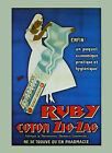 Nurse Ruby Hygienic Cotton Zig Zag France French Vintage Poster Repro FREE S/H
