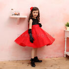 NWT Girls baby Black & Red Princess shiny lovely party dress -ALL SIZE