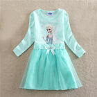 Girl Mint Green Princess School Garden Outfit Girls Dresses SIZE 2T,3,4,5,6,7,8T