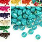 FREE SHIP approx 1400pcs Fashion DIY Round Wooden Beads 10 colors Wholesale