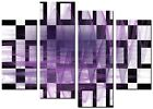 ABSTRACT  CANVAS WALL ART LARGE QUALITY PRINTS CONTEMPORARY DIGITAL BOLD PURPLE