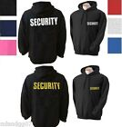 SECURITY Sweatshirt  Hoodie - Two Sides Print  SIZES S-3XL