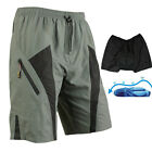 MTB Loose Fit Cycling Shorts Padded Underwear Bike Bicycle Pants M-4XL C5017