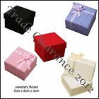 4 Jewellery Gift Boxes 5 x 5 x 3cm for Earrings Rings or Brooches Any 5 Colours