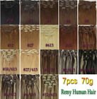 Free Shipping~7pcs Clip In Human Hair Extensions Any color with Any Length 70g