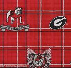 Light Switch Plate & Outlet Covers GEORGIA BULLDOGS GO DAWGS FOOTBALL RED PLAID