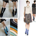 Fashion Roll Top Ankle High Cotton Candy Color Wrinkle Socks