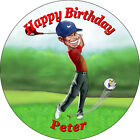 Personalised Tiger Woods Golf Edible Cake Toppers