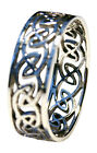 Mens/Ladies Solid 925 Sterling Silver Celtic Finger/Thumb Ring Sizes P - Z+2