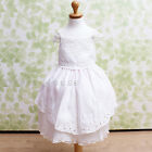 FIowerGirls Kids Baby Princess  Birthday Wedding Party Ivory Back Straps Dress