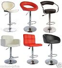 1 New Black PU Swivel Faux Leather Breakfast Kitchen Bar Stools Pub Barstools