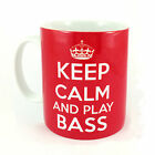 NEW KEEP CALM AND PLAY BASS GIFT MUG CUP CARRY ON COOL BRITANNIA GUITAR ELECTRIC