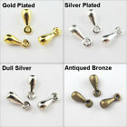 Tiny WaterDrop Charms Penadants 2.5x7mm Or 3.5x9mm,Gold,Silver,Dull Silver Plt