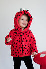 Warm, Snuggly Designer Furry Ladybird Jacket by Noo  Sizes 3-18 Mths  Fab Gift!