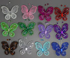 "10pc Nylon artificial Stocking Butterfly Wedding Decorations 2"" Free Shipping"