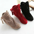 Women's cut-outs Boots Spring or Summer short Boots , Inside High -heel shoes