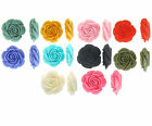 Resin Roses Flat Back Flower Cabochon 23mm, 10 Pieces