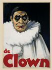 The Clown Comic Performers Pierrot Costumes Circus Vintage Poster Repro FREE SH