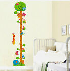 ANIMALS/Monkey Tree Playing Home Wall Kids Height Stature Decor Stickers decals