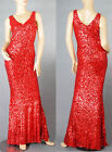 Sexy Ladies Evening Formal Party V Neck Bling Sequin Wiggle Gown Dress 6-14 9888