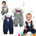 (0-18M) Baby Boy Twins Wedding Special Occasion Christening Tuxedo Suit Outfit