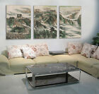 Chinese great wall in chinese Painting Wall Decorative Canvas Print Set Framed