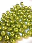 Green Glass Pearl Beads 4mm, 6mm, 8mm, 10mm choose your size, multi choice