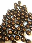Brown Glass Pearl Beads 4mm, 6mm, 8mm, 10mm choose your size, multi choice