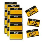"""100 """"Hello My Tag Is"""" Name Is TATS CRU NY Stickers (10cm x 5cm)"""