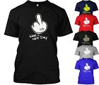 DRAKE T-SHIRT MICKEY MOUSE HANDS TSHIRT HAVE A NICE DAY YMCMB DOPE FRESH SWAG