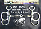 Butterfly Jointed Carriage Driving Bit Miniature - Large Horse Sizes Style D31