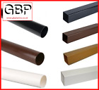 Plastic Downpipe Pipe Spouting UPVC 2.5M Black Brown White or Caramel