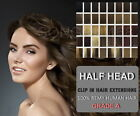 From £9.99 ! 6 Pieces Half Head Clip in Remy Human Hair Extensions