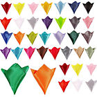 New Men Stylish Italian square Satin Wedding Party pocket Hanky Handkerchief