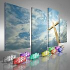 PREMIUM NEW - Jesus Christian Cross Offset - 10 COLOURS / SIZES