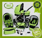 SILVER 3 in 1BABY TRAVEL SYSTEM PRAM PUSHCHAIR CAR SEAT AIR WHEELS 30 COLOURS