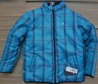 HURLEY YOUTH REVERAIBLE THICK PADDED ZIP-UP POLYESTER IN-STYLE JACKET LIST$58