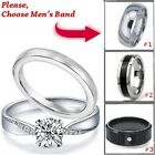 Wedding Rings Set 3 pcs Hers STERLING SILVER, His selectable, Men's & Women's CZ