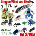 Educational Diy Solar Robot Insect Car Diy Game Kid Toy Kit Choose You Like